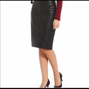Ivanka Trump Faux Leather Skirt Size 6